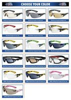 Bolle Rush Plus Safety Glasses Sunglasses ANSI Z87+ Work Eyewear Choose Color