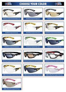 Bolle Rush Plus Safety Glasses Sunglasses ANSI Z87+ Work Eyewear Choose Color