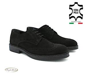 Zapatos de Hombre Elegantes en Negro de Ante Clásico Elegante Oxford Derby 43