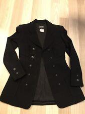 CHANEL Jacke Jacket Kurzmantel schwarz Gr. 36 Vintage COUTURE Cabanjacke Wolle