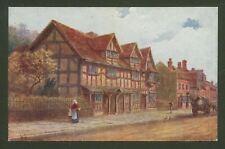 W.W.Quatremain. Shakespeare's Birthplace - Artist Drawn Oil Effect Postcard