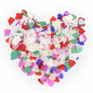 Multi-Coloured Biodegradable Wedding Decoration Throwing Confetti Hearts Pastel