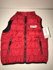 "Carter'S Baby Boys' ""Cool Dude"" Penguin Puffer Vest Red Size 24M Nwt Winter Cozy"
