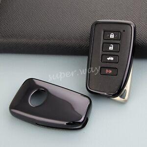 For Lexus IS ES NX RX LX RC Black TPU Car Smart Remote Key Case Protector Cover