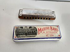 HOHNER MARINE BAND HARMONICA GERMANY NO. 1896 KEY C 10 HOLES
