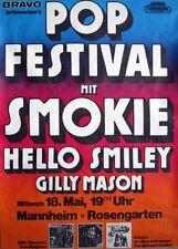 POP FESTIVAL - 1977 - Konzertplakat - Smokie - Hello - Smiley - Gilly Mason - MA