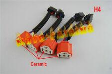 "4X 7"" Headlight Hi Heat Headlamp Bulb H4 Wiring Harness Ceramic Socket Plugs SET"