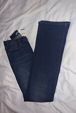 Womens Size 0 Eddie Bauer NWT Truly Straight BootCut Mid Rise Denim Jeans