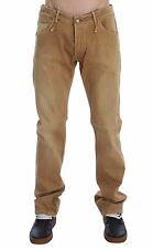 NUEVO Acht Vaqueros Beige lavado Algodón Elástico Corte Normal Pantalones W34 /