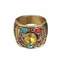 Fashion Vintage Ring Crystals Zinc Alloy Geometric Mood Tracker Unisex Wedding