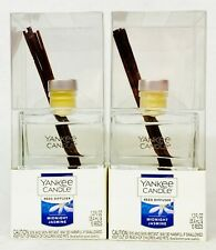 2 Yankee Candle Reed Diffuser Kit Midnight Jasmine Scent Oil Glass Sticks 1.2 oz