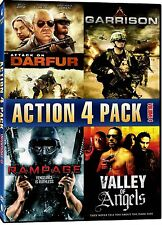 NEW DVD - ATTACK ON DARFUR + GARRISON + RAMPAGE- VENGEANCE  + VALLEY OF ANGELS