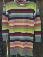 NWT $69 Gap Kids Rainbow Sparkle Stripe Sweater Tunic Dress Girls Sz M/8 BTS G18