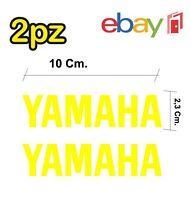 2x adesivi YAMAHA per moto e scooter - colore giallo - racing moto