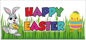 Happy Easter Banners - Poster - Party - Poster - Decorations (Pack of 2)