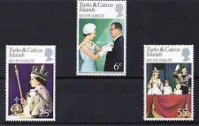Turks & Caicos Islands 1977 Royal Silver Jubilee MNH set