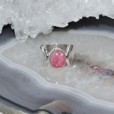 Rhodochrosit Ring, 925er Silber, Edelsteinring (21952), Edelsteinschmuck
