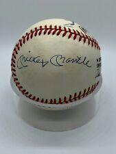 Mickey Mantle Willie Mays Duke Snider Signed Autograph Official Baseball PSA DNA