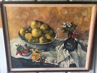 1940's New York Graphic Society Gauguin Canvas Print of Still Life with Apples