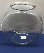 Betta Fish Bowl Large Centerpiece Shelf Office Round Glass Goldfish 2Gal Decor