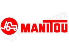 MANITOU Sticker, Plant Tractor Combine Baler Harvest Farming Farm Telehandler