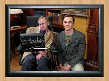 Stephen Hawking Jim Parsons Memorabilia Signed Autographed A4 Print Photo Poster