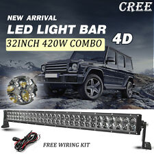 "32"" 420W CREE LED Light Bar UV ATV Offroad 4WD Truck Driving Lamp Boat SUV UTB"