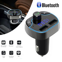 Wireless Car FM Transmitter Wireless Radio Adapter USB Charger MP3 Player US STO