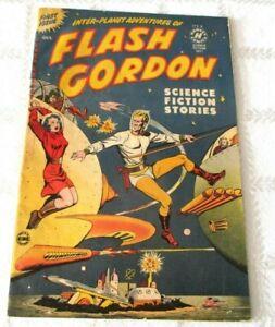 1950- FLASH GORDON # 1 COMIC-FIRST ISSUE- HARVEY- SPACESHIP- SCI- FI GOLDEN AGE