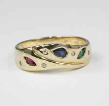 Ringe mit echten Broschen aus Gelbgold 58 (18,4 mm Ø)