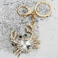 Crab Rhinestone Keychain Key Fob Chain Car Keyring Key Purse Pendant Jewelry LD