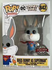 Looney Tunes 80th Anniversary Bugs Bunny as Superman Pop Vinyl Figure