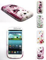 Schutzhülle für Samsung Galaxy S3  i9300 Frauen Bumper Cover Hülle mit Flower
