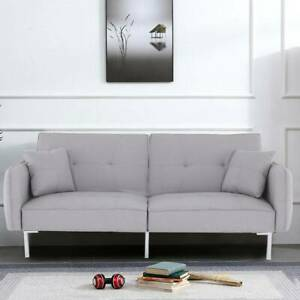 3 Seater Fabric Sofa bed Click-Clack Sofa Bed Recliner Settee Couch Furniture