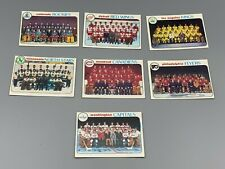 Lot of 1978-79 Topps Hockey team checklists