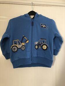 TU - Boys Lined Tractor Hoodie - Age 3-4