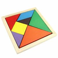 Toys Tangram Spiel 7 Parts Platzierungsspiele Holz Puzzle Board für Kinder 1 Set