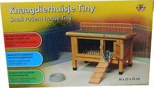 Nagerhaus Tiny Blockhütte mit Treppe 36x22x24cm Nager haus Hamster, Maus