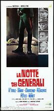 LA NOTTE DEI GENERALI LOCANDINA FILM PETER O'TOOLE OMAR SHARIF PLAYBILL POSTER