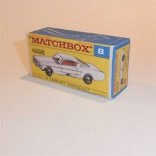 Matchbox Lesney  8 e Ford Mustang Coupe empty Repro (AS) F style Box