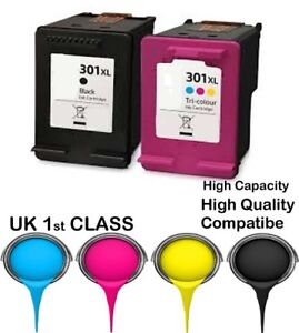 2 XL Compatible Ink Cartridge For HP 301 Envy 4500 4502 4504 4505 4507