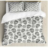 Skull Duvet Cover Set 100% Cotton 200TC Bedding Double Super King Size Bed Sets