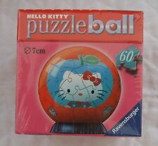 RAVENSBURGER HELLO KITTY BLUE APPLE PUZZLE BALL 60 PIECES NEW! SEALED