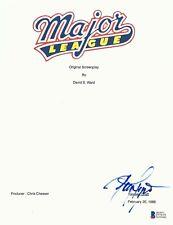 DENNIS HAYSBERT SIGNED 'MAJOR LEAGUE' FULL SCRIPT SCREENPLAY AUTHENTIC BECKETT