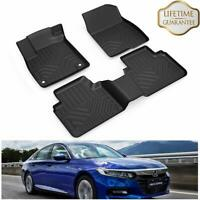For 2018-2019 Honda Accord Floor Mat Liners All Weather Waterproof TPE Carpets