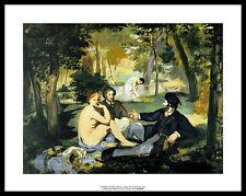 Edouard Manet Le dejeuner sur l'herbe Poster Bild Kunstdruck & Alurahmen 28x36cm