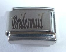BRIDESMAID Italian Charm - WEDDING Party MARRIAGE 9mm Classic Size N136