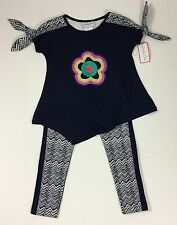 Emily Rose NWT 4 5 6 8 10 Boutique Sequins Flower Top Legging Outfit lightweight