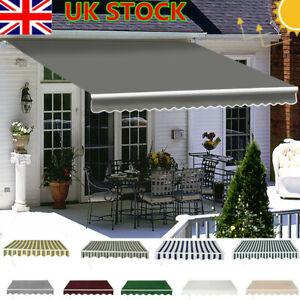 UK Retractable Manual Awning Canopy Outdoor Patio Garden Sun Shade Shelter DIY