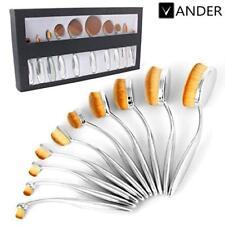 Beauty Cosmetic Foundation 10pcs Toothbrush Oval Makeup Brushes Kabuki Brush Set